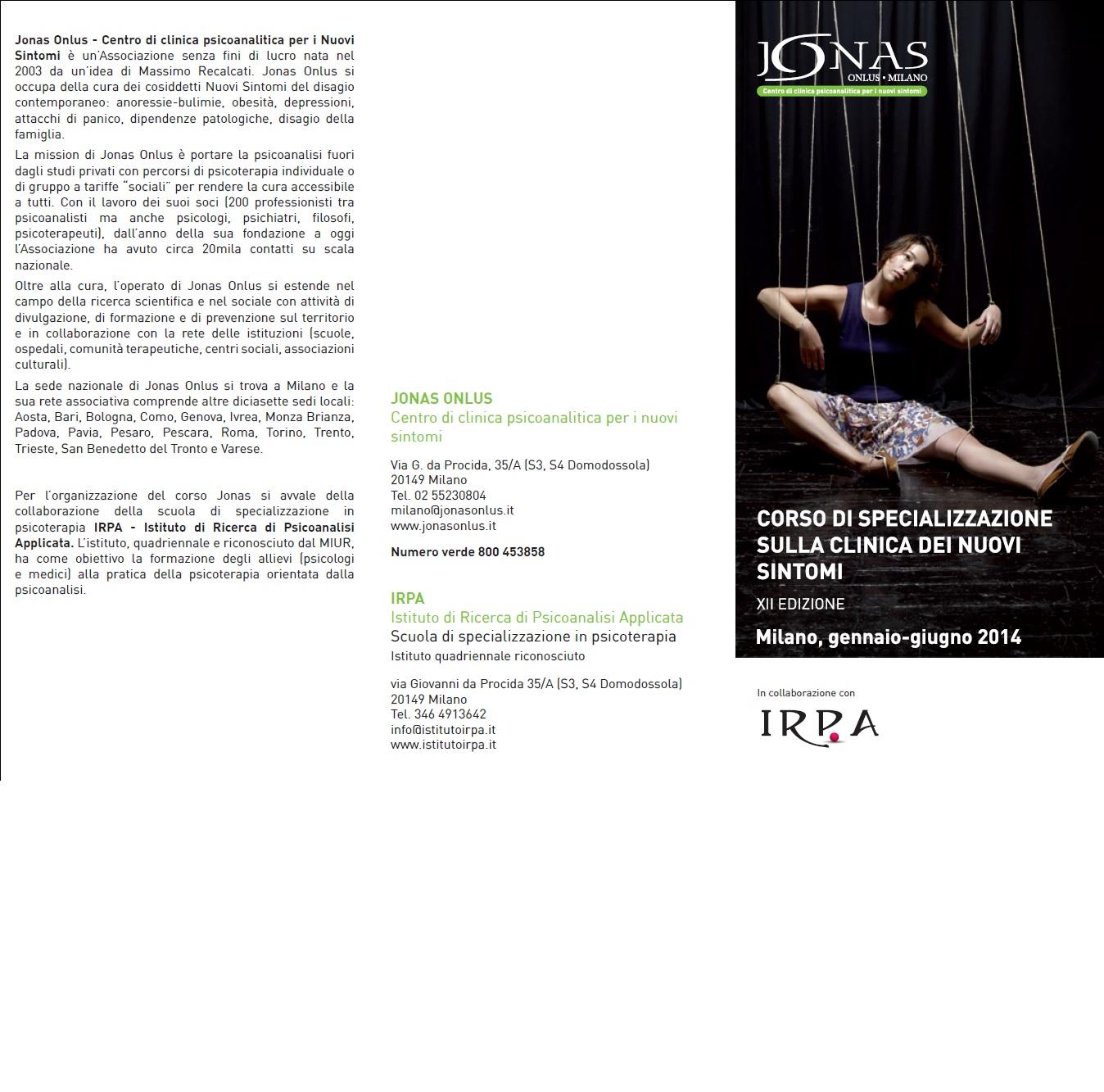 Corso di Specializzazione Jonas
